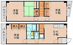 ホワイトアベニュー筥松[6階]の間取り