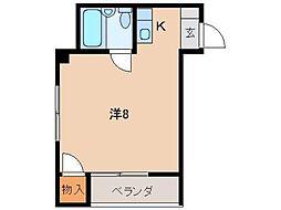 コーポホワイト南出島B棟[2階]の間取り
