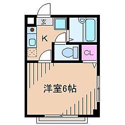 神奈川県横浜市港北区新羽町の賃貸マンションの間取り