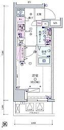 リヴシティ横濱宮元町[4階]の間取り