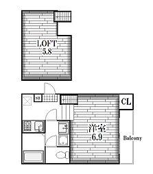 グレイス尼ケ坂[2階]の間取り