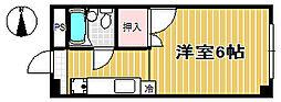 花京院コーポ[3階]の間取り