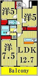 RIK西新井[702号室]の間取り