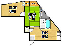 千鳥橋第一佐藤ビル[2階]の間取り
