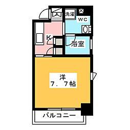プラウドフラット浅草橋III 8階1Kの間取り