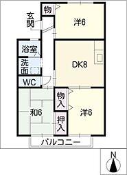 ブリリアントメゾンA棟[1階]の間取り
