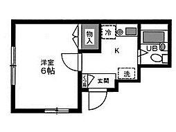 東京都港区赤坂4丁目の賃貸マンションの間取り