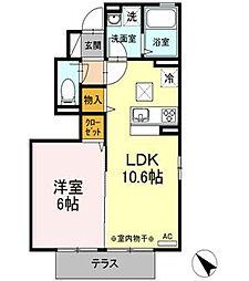 ヴァンベール湘南III[1階]の間取り