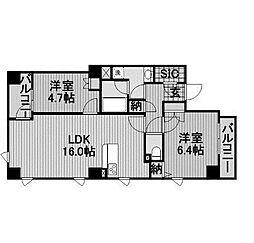ビラ・アペックス相模原[6階]の間取り