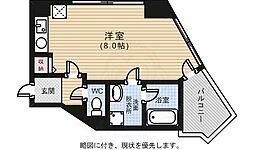 広島電鉄5系統 南区役所前駅 徒歩7分の賃貸マンション 2階ワンルームの間取り