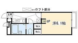 レオパレスKAMISHO[207号室]の間取り
