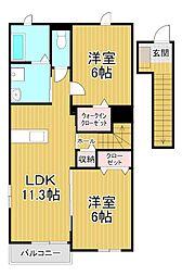 桜弐番館[2階]の間取り