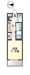 JR総武線 平井駅 徒歩6分の賃貸マンション 1階1Kの間取り