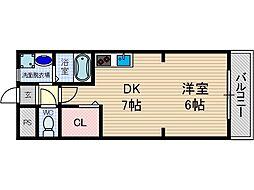 山崎第7マンション[3階]の間取り