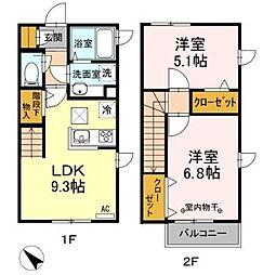 仮)D-room下石原[1階]の間取り