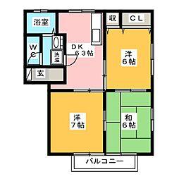 岩昇ハイツC[1階]の間取り