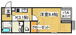 GLANZ諸福[2階]の間取り
