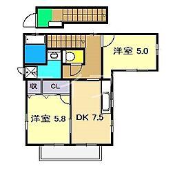 ファミール百石 (2F)[1階]の間取り