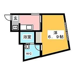 the KOISHIKAWA 3階ワンルームの間取り