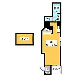 ジュネス・5・栄[4階]の間取り