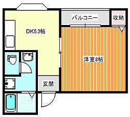 コーポラスクラッセ[3階]の間取り