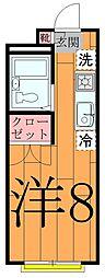 33A[102号室]の間取り