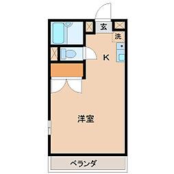 埼玉県東松山市沢口町の賃貸アパートの間取り