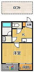 コンフォートベネフィス室見1[1階]の間取り