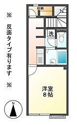 長野県上田市材木町2丁目の賃貸アパートの間取り