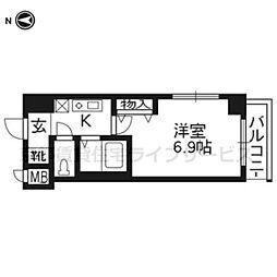 プレサンス京都二条城前106[-1階]の間取り
