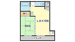 兵庫県姫路市西庄の賃貸マンションの間取り