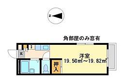 兵庫県姫路市白浜町宇佐崎中3丁目の賃貸アパートの間取り