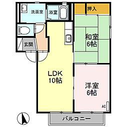 ポートストーク E[2階]の間取り