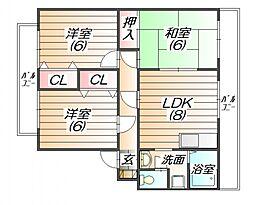 ガーデンハウス未来館[2階]の間取り