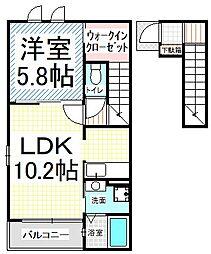 サンモール B[2階]の間取り