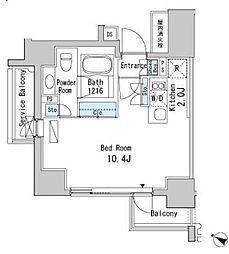 ベルファース目黒[12階]の間取り