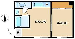 兵庫県尼崎市東園田町1丁目の賃貸マンションの間取り