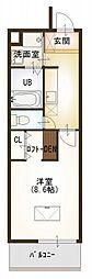 ルネスクレール[4階]の間取り