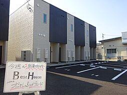 福岡県八女市室岡の賃貸アパートの外観