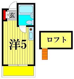 サニーフラット松戸[2階]の間取り