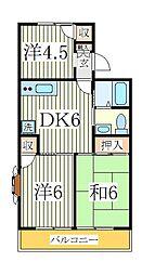パールハイツ A[2階]の間取り