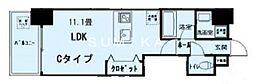 富田町二丁目マンション(仮称) 2階1Kの間取り