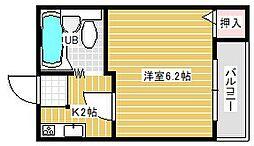 大阪府吹田市山田東4丁目の賃貸アパートの間取り