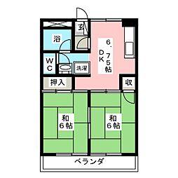 ベルメゾンT A棟[2階]の間取り