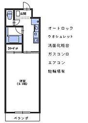 広島県呉市阿賀北8丁目の賃貸マンションの間取り
