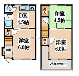 [一戸建] 大阪府東大阪市吉田3丁目 の賃貸【/】の間取り