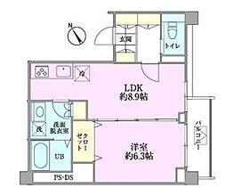つるまきハウス(フルリノベーション)[302号室号室]の間取り