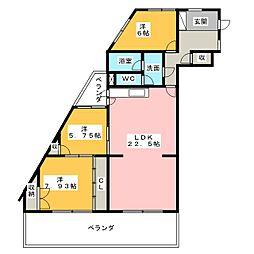 サンパーク弥富[2階]の間取り