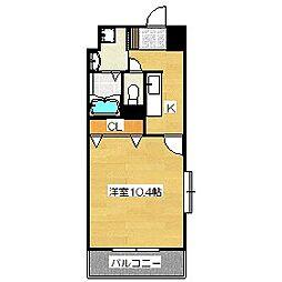 ユースロードヤマサキ[307号室]の間取り