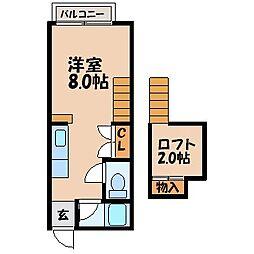 プチメゾンK2[104号室]の間取り